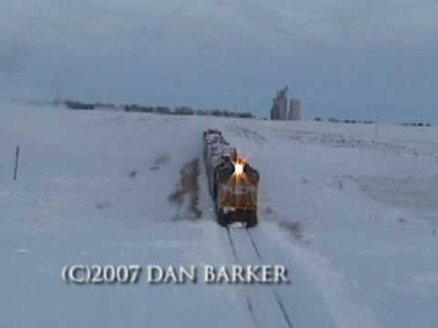 Thumbnail: Rotary Snow Plow Union Pacific 900082 Blizzard 2006 Action