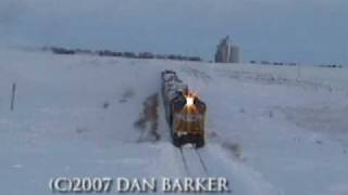 Rotary Snow Plow Union Pacific 900082 Blizzard 2006 Action