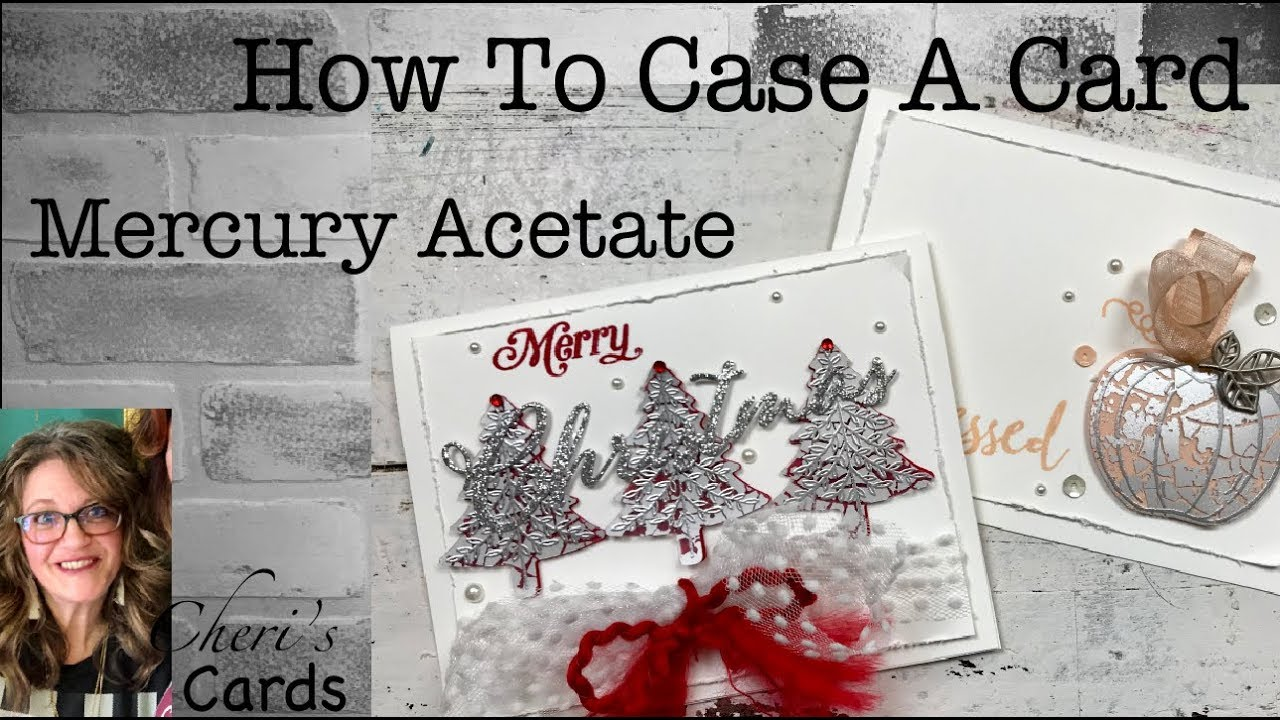 How to CASE a Card: Mercury Acetate Christmas Tree Stampin