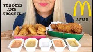 Mcdonalds Crispy Chicken Tenders And Nuggets Asmr Eating Sounds Mukbang No Talking