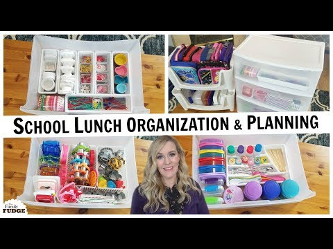 SCHOOL LUNCH ORGANIZATION on a Budget + FAQ's about LUNCH MAKING