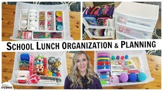 SCHOOL LUNCH ORGANIZATION on a Budget + FAQ