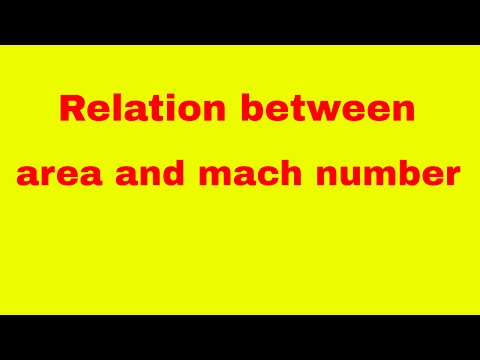 area and mach number derivation | diffuser derivation | choking in nozzle | mach number derivation