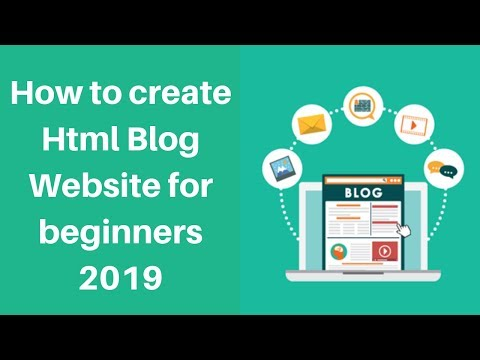 How To Create Html Blog Website For Beginners 2019 | Digital Marketing Tutorials
