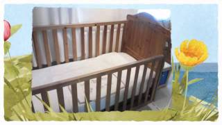 Mothercare Suffolk Antique Pine Cot Bed And Mattress