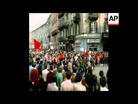 SYND 30 5 71 DEMONSTRATION BY ANTI-COMMUNIST AND ANTI-FASCIST MOVEMENT