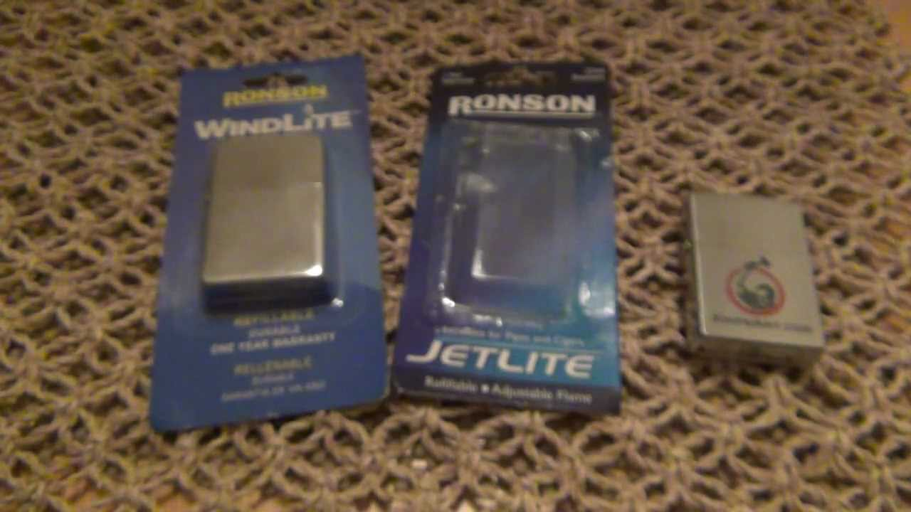Zippo VS Ronson Lighters
