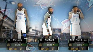 99 OVR WESTBROOK, DURANT and HARDEN back TOGETHER in NBA2K19 MyPARK!