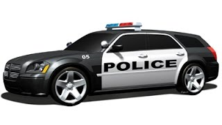 LAPD Police Car Siren Passing Far Away Sound Effect