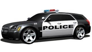 LAPD Police Car Siren Passing Far Away Sound Effect
