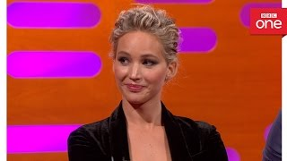 Chris Pratt and Jennifer Lawrence's yearbook awards  - The Graham Norton Show 2016: Episode 9 - BBC