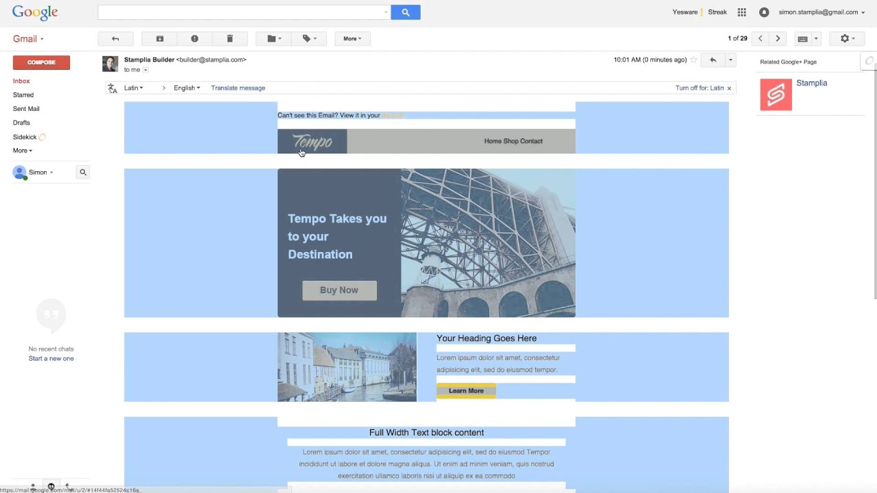 How To Send Email Templates From Gmail Youtube