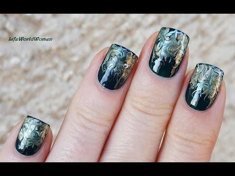 needle nail art #15 - elegant dark