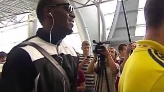 Знаменитый спринтер Усэйн Болт прилетел в Москву