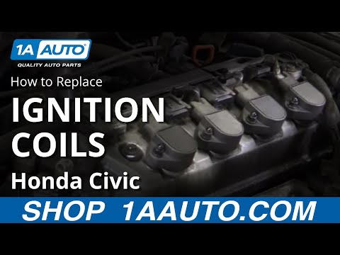 Replace Ignition Coil 01-05 Honda Civic 1.7L - YouTube