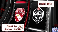 Highlights: FC Thun vs FC Lugano (09.02.2020)