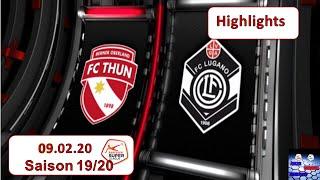 Highlights: Fc Thun Vs Fc Lugano  09.02.2020