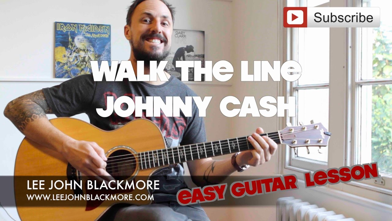 Easy Guitar Lesson Johnny Cash Walk The Line Intro With Chords