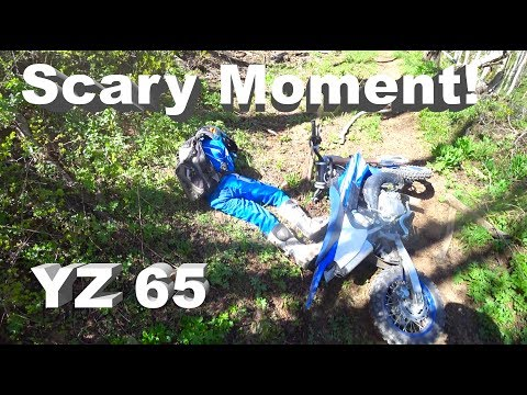 That Could Have Been Terrible!! Konnor Gets Knocked off the bike - YZ 65