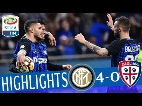 Inter - cagliari 4-0- highlights - giornata 33 - serie a tim 2017/18