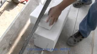 AAC cutting, sawing and routing
