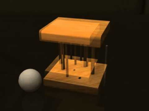 Golf Themed Wooden Puzzle - Solution to Golf Release Disentanglement Puzzle from SiamMandalay