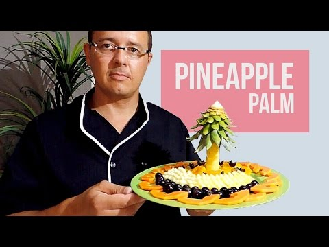 HOW TO MAKE A PALM TREE WITH PINEAPPLE - By J.Pereira Art Carving Fruits