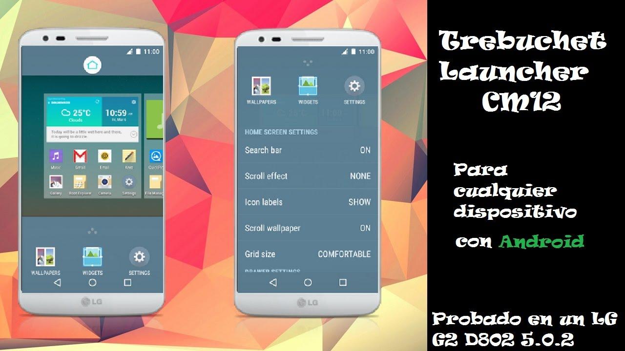 Instala Trebuchet Launcher en tu Android con Lollipop