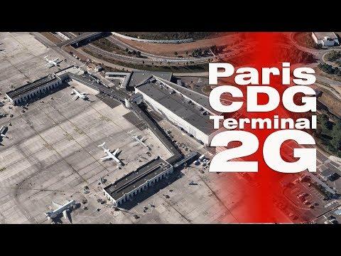 Paris CDG Airport Terminal 2G   Departure & Arrival