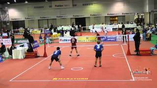 2015 King's Cup | Thailand vs. Japan Doubles | Sepak Takraw