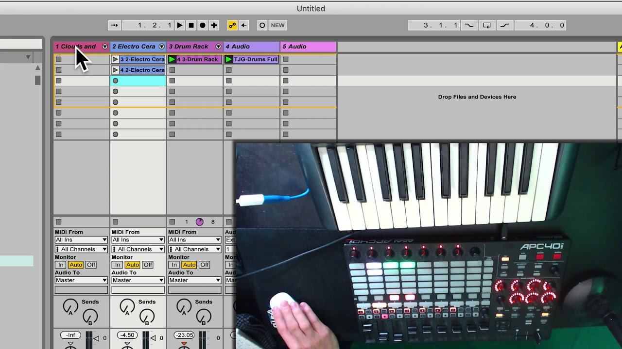 Extending the use of your akai apc40 in ableton live, part 1 of 2.