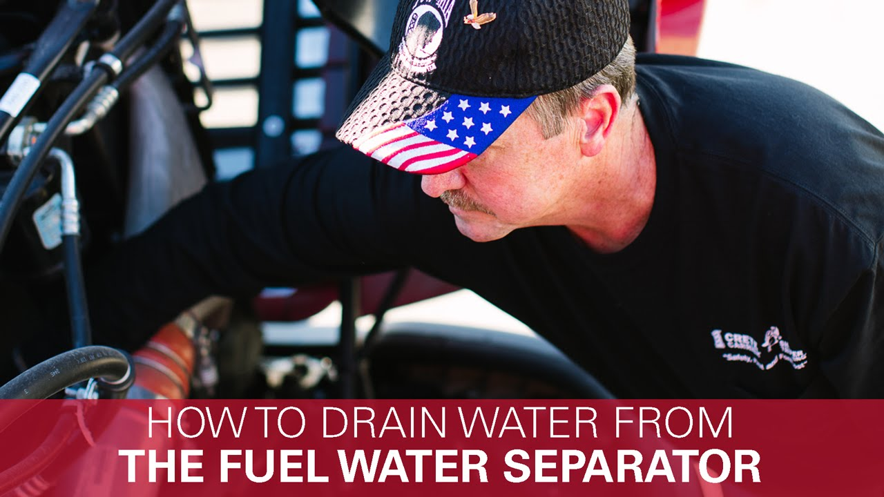 hight resolution of how to drain water from a fuel water separator