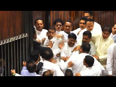 AFP news agency: Sri Lanka on auto pilot: brawl breaks out in parliament