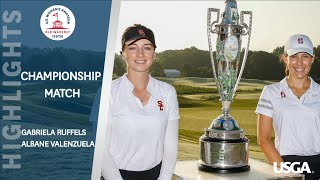 Extended Highlights: 2019 U.S. Women's Amateur Final