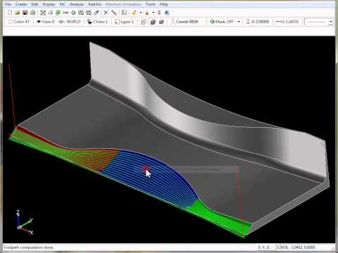 SURFCAM Tutorial - 3-Axis Multi-Cut: Morph Between Two Curves