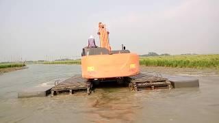 পদ্মা সেতু - নদী শাসনের কাজে অভূতপূর্ব  যন্ত্রের (উভচর!) ব্যবহার, দেখলে অবাক হবেন! Padma Bridge
