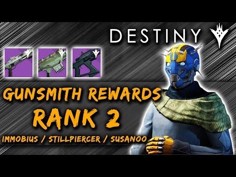 Destiny | Gunsmith Rank 2 Rewards! [The Taken King]