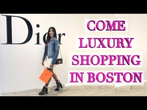Come Luxury Shopping with Me in Boston - Chanel, Louis Vuitton, Dior