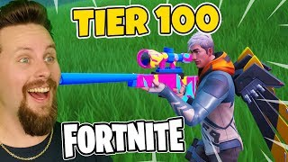 UNLOCKS BATTLE PASS TIER 100 IN FORTNITE