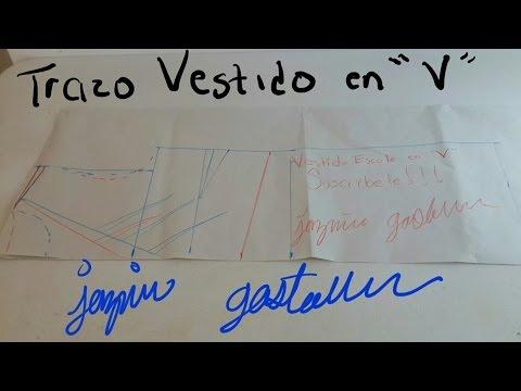 e8d28c38d4 Como Hacer Un Vestido Escote En V (Trazo) -Jazmin Gastelum - YouTube