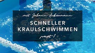KRAULEN LERNEN: SCHWIMMKURS KRAULTECHNIK (Beinschlag + Wasserlage) TEIL1/6 (2019)
