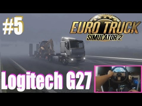 ETS2 #5 Logitech G27 Fog & Rain Abnormal load Euro Truck Simulator 2 HD1080P