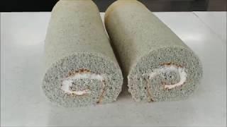 흑미쌀  롤케이크 Black Rice Roll Cake