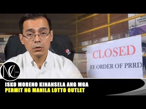 Isko Moreno kinansela ang mga permit ng Manila lotto outlet