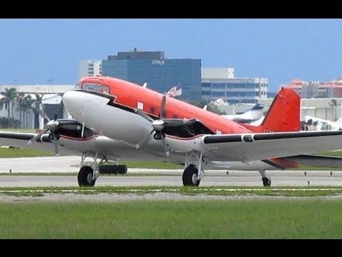 Douglas DC-3 Turbine Engines (BT-67 Basler) Takeoff from KFXE!