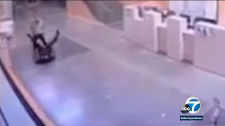 Surveillance video shows disturbing attack on LAPD officer in San Pedro | ABC7