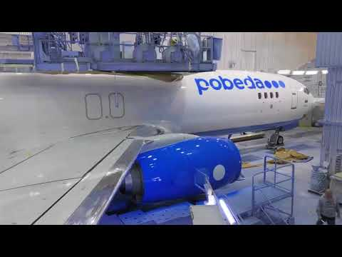 Boeing 737-800 full construction from start to finish (for Pobeda airlines)