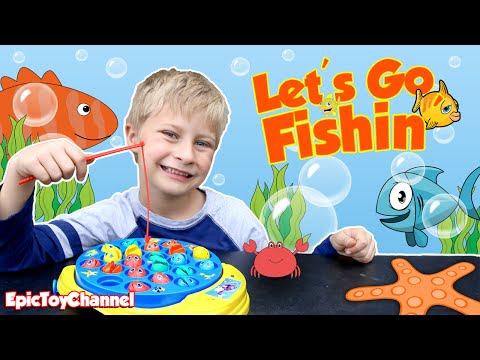 Vote no on let 39 s go fishing game surprise eggs opening for Let s go fishing xl