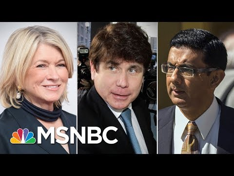 President Trump Considering Pardons For Martha Stewart, Rod Blagojevich | Andrea Mitchell | MSNBC