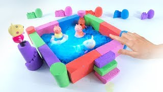 Learn Colors Kinetic Sand Rainbow Pool Lego VS Fish Fun Toys How To Make For Kids 2